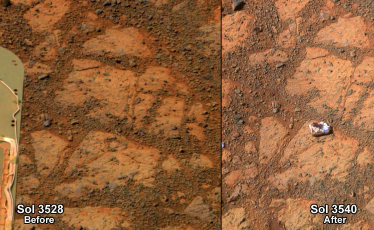 Moving Rock on Mars