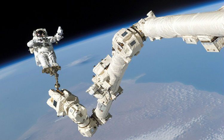 Spacewalk Canadarm