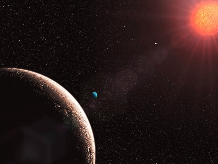 Exoplanet red dot