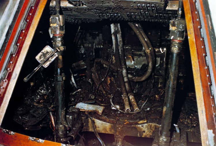 Apollo 1 capsule after the fire