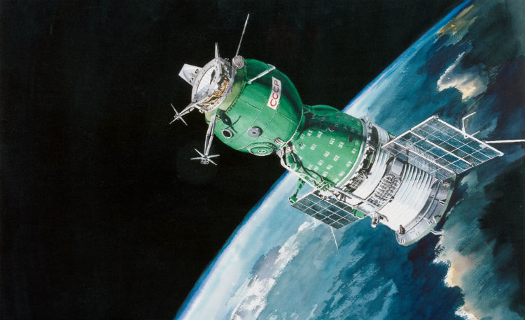 Soyuz spacecraft artist's representation