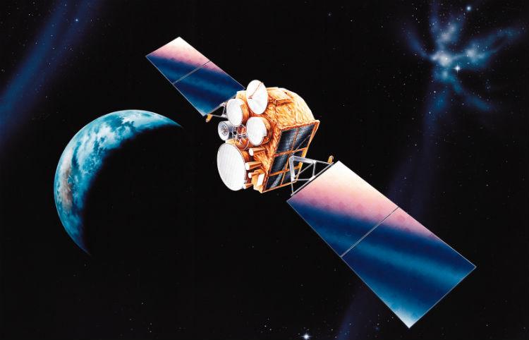 Communications satellite art
