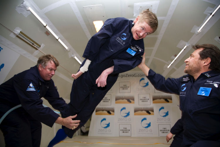 Stephen Hawking in Weightlessness