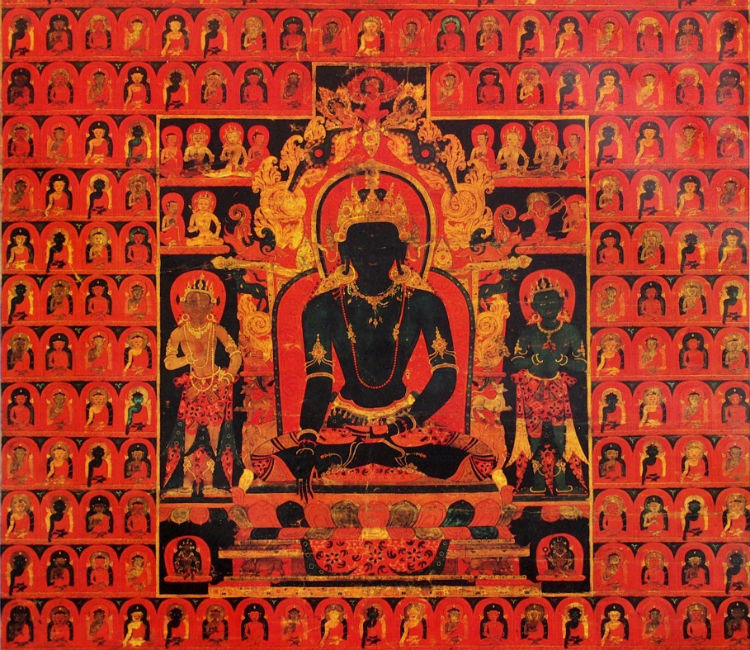 The Dhyani Buddha Akshobhya