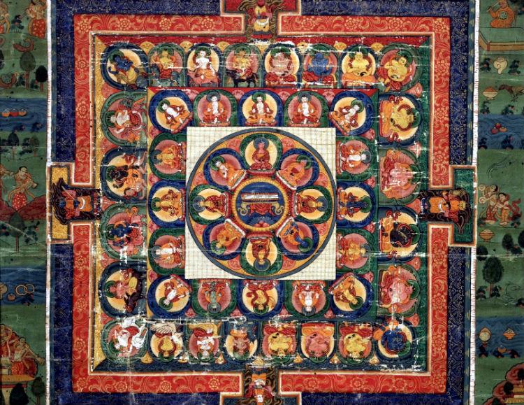 Painted Medicine Buddha Mandala