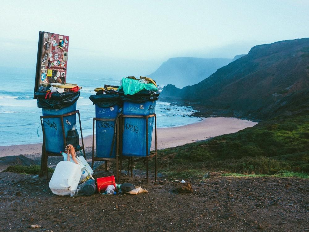 Trash by a Beach