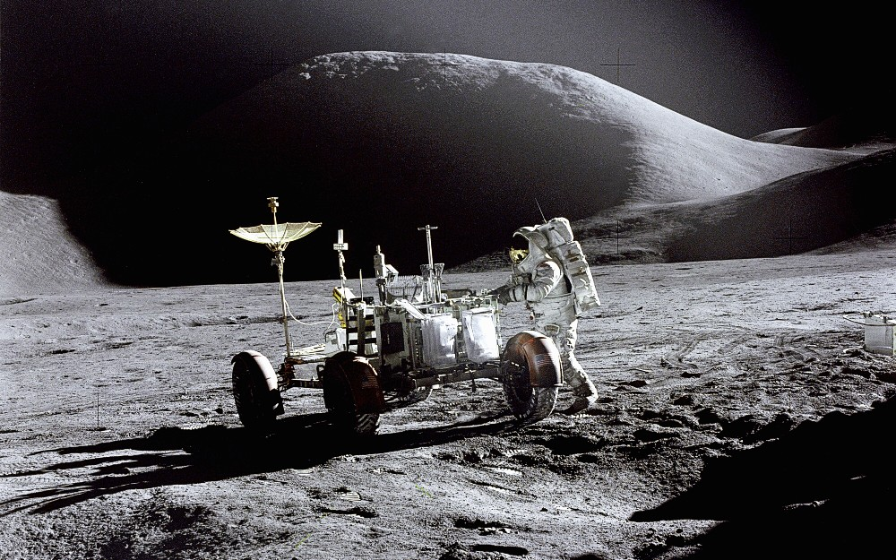 Lunar Roving Vehicle on the Moon