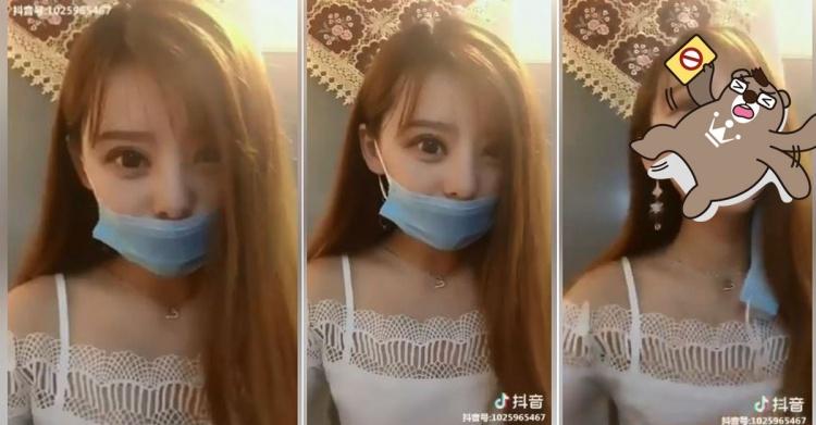 微笑girl很迷人…大眼長髮妹脫口罩「衝擊影像」眾人看呆中! 急喊:先別脫沒關係