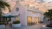 超梦幻粉红色Starbucks!座落于度假天堂小岛,于加勒比海风情下喝咖啡〜