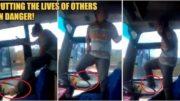 吓破胆!公交车司机超狂!竟站在驾驶座上用脚开车秒让乘客崩溃…:要死自己死啊
