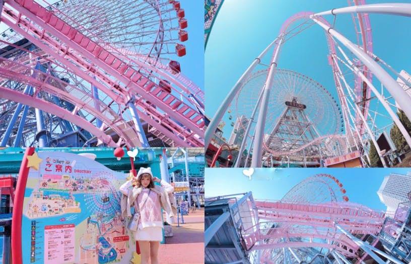 """比迪士尼更有新鲜感!日本东京超梦幻""""樱粉色主题乐园"""",连过山车轨也是浪漫粉色!"""