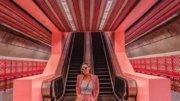 每个角落都暴击少女心!新加坡超梦幻粉红色地铁站,亚洲唯一全粉色地铁站~