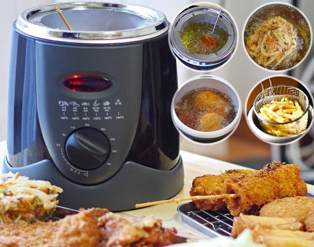 边缘族必备!日本推出「一人炸物机」在家就能轻松吃~炸串、炸鸡、鸡排样样来♡