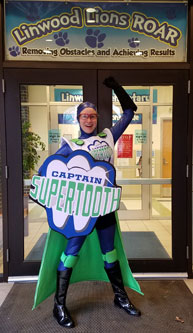 "The Captain at Linwood Elementary ""ROAR!"""