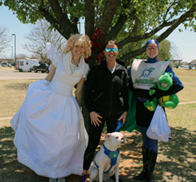 SPOTTED!  The Captain and Toothfairy at the D-DENT Oral Cancer Awareness Walk