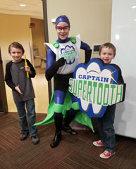 Super heros in training at the University of Oklahoma's Kids Day