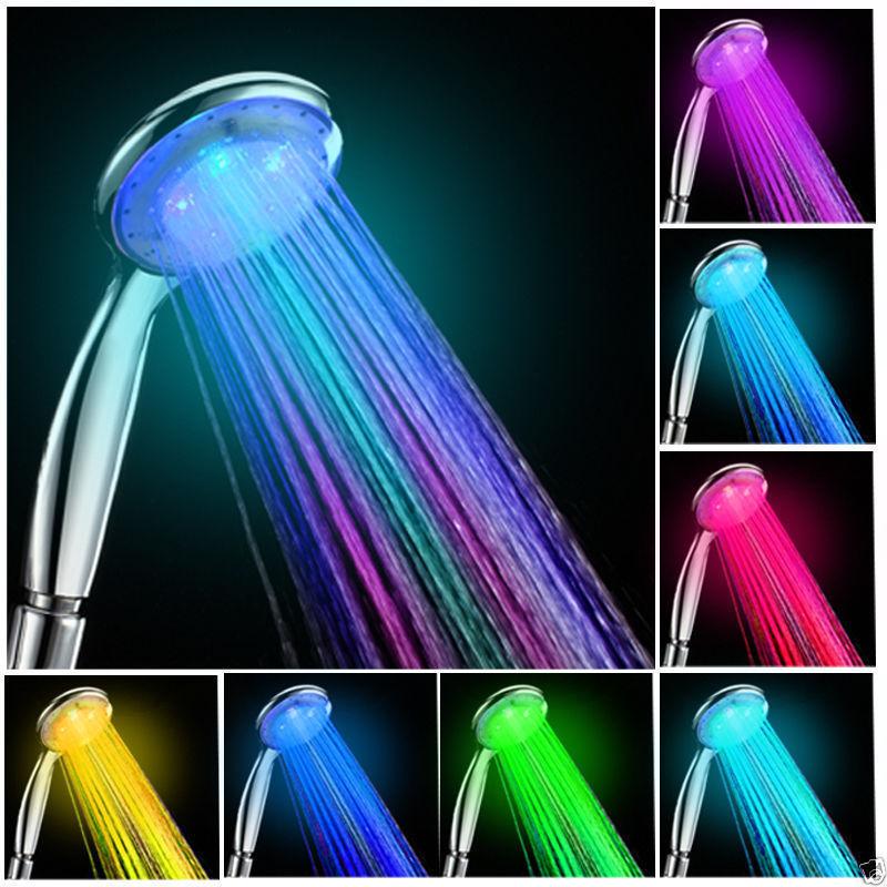 ראש מקלחת צבעוני