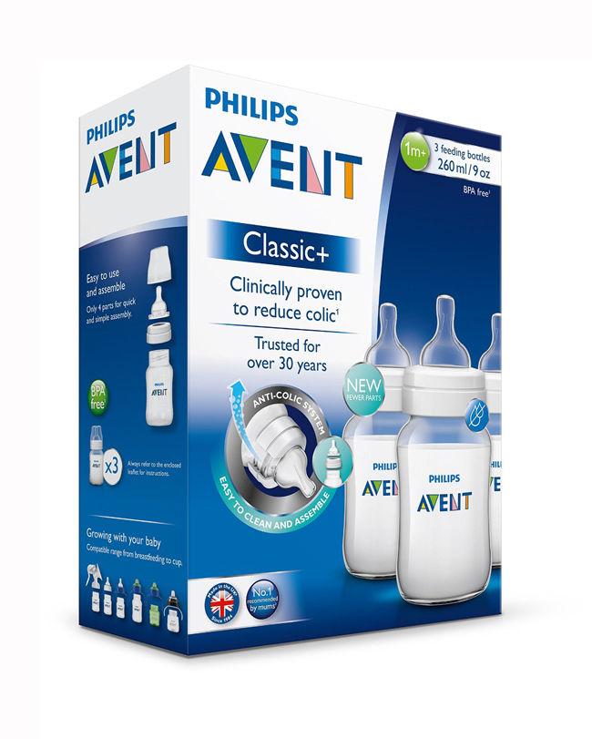 3 בקבוקים לתינוק Philips Avent