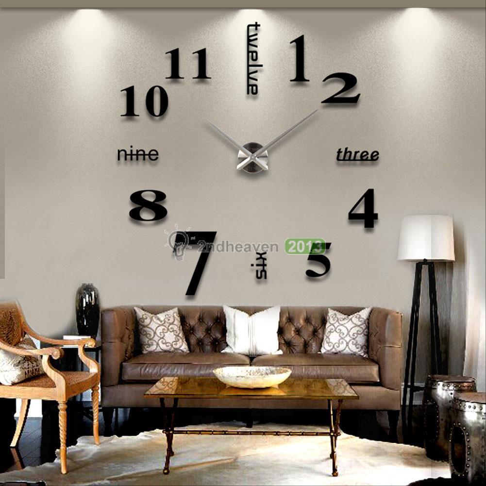 שעון קיר מדבקות