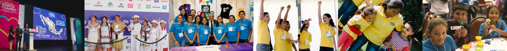 Banner con diferentes fotos de la premiación y actividades del Evento Tu y Yo Somos el Cambio