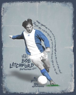 Bob Latchford Signed Limited Edition Birmingham City Art Print