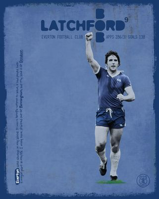 Bob Latchford Signed Limited Edition Everton Art Print