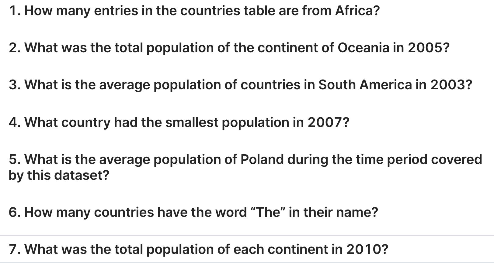 SQL Project - World Population Data –image