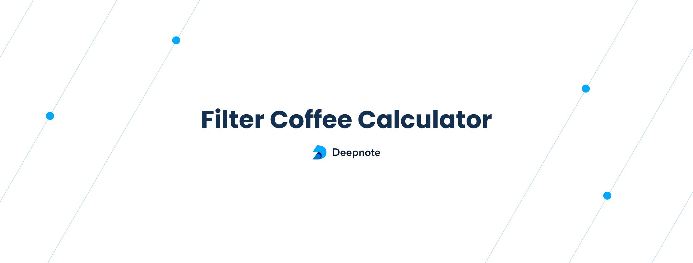 Filter Coffee Calculator –image