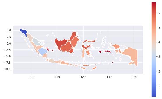 Reg inflation Indonesia: Exploratory Spatial data Analysis (ESDA)  –image