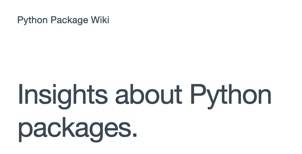 Package Wiki  –image
