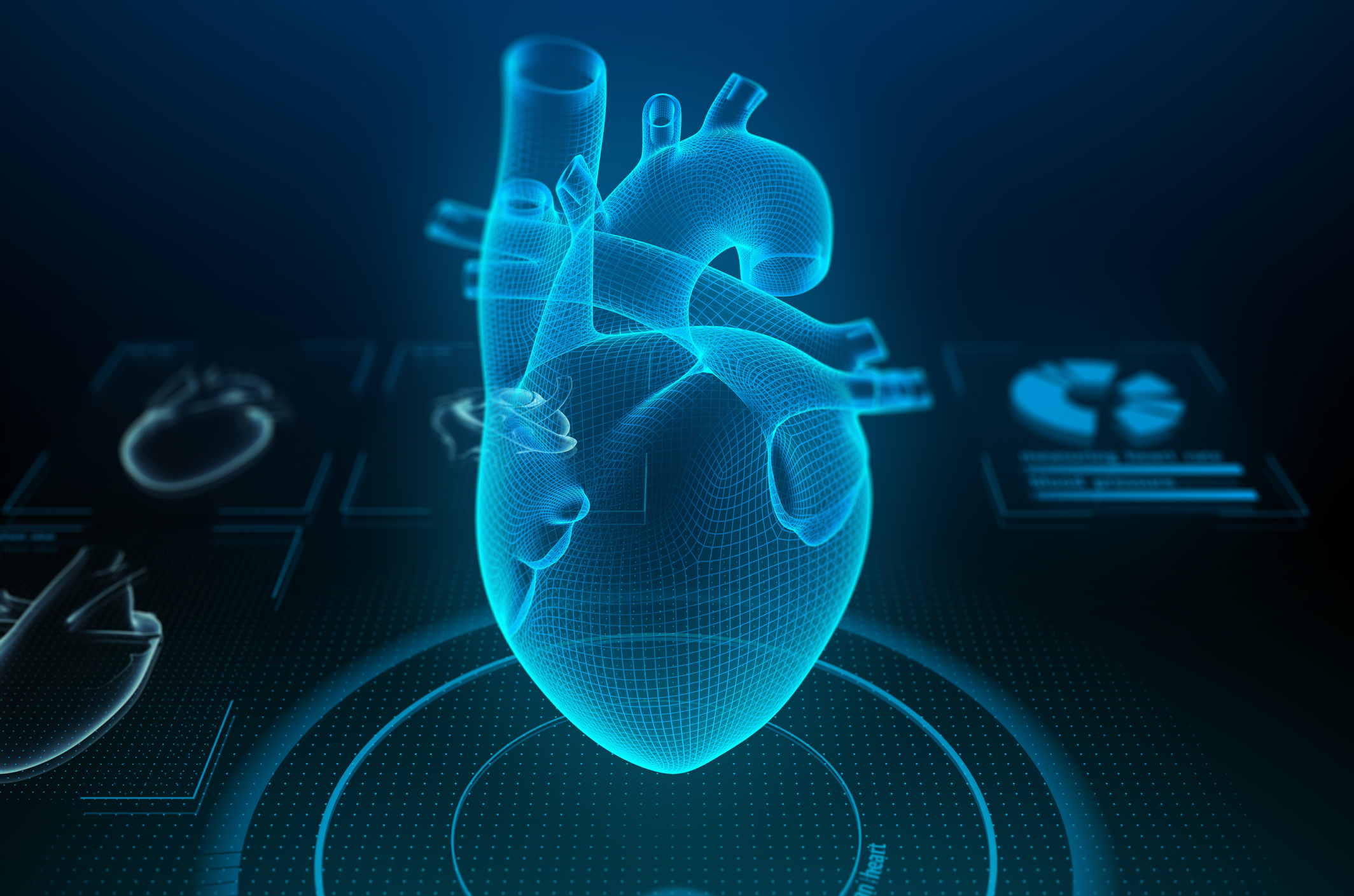 Heart disease and potential risk factors –image