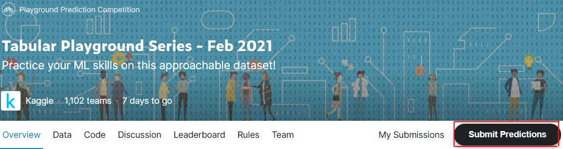 Kaggle Tutorial - Tabular Playground February –image
