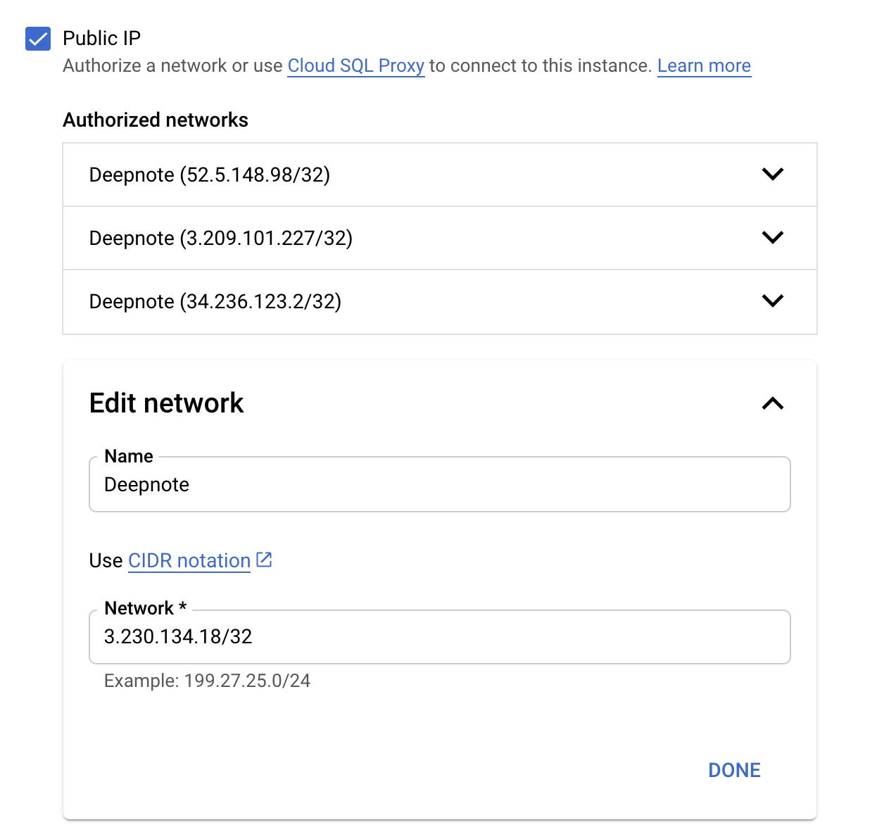 Static IP addresses –image