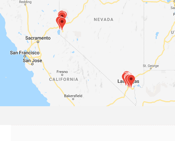 Map of institutions in Nevada