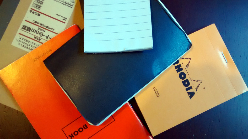 Notebooks pile