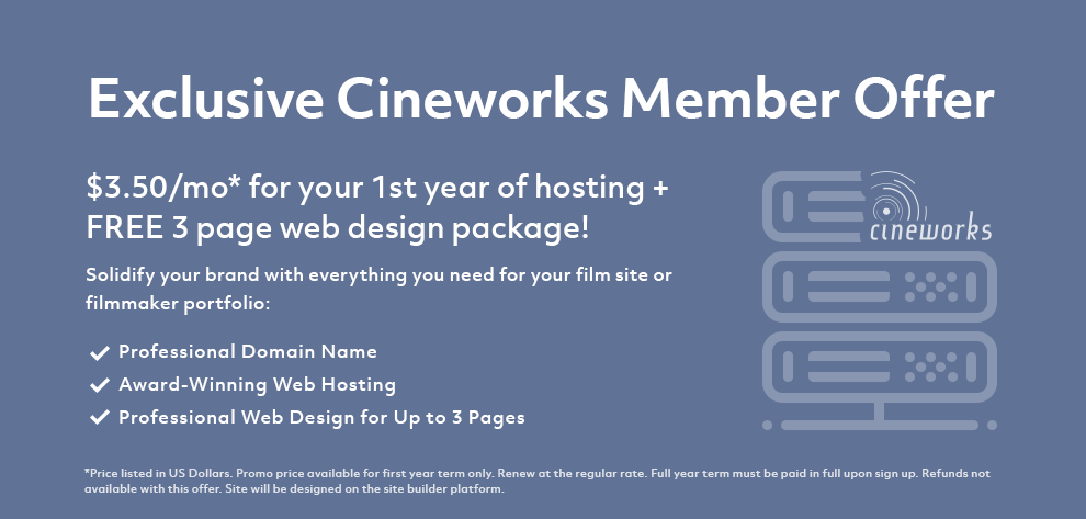 Doteasy exclusive web hosting promotion for Cineworks members