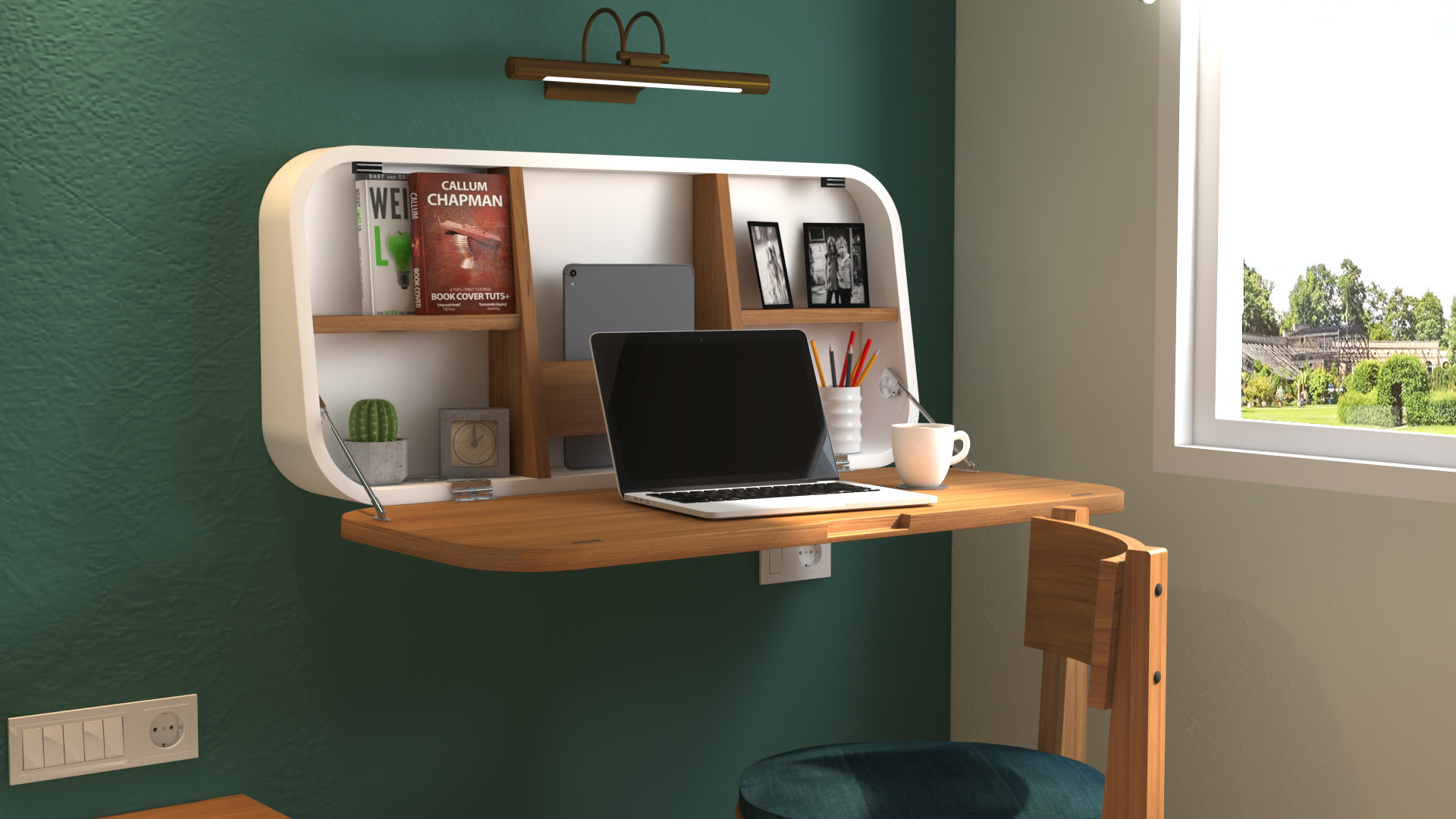 Wall mounted Study Table 1