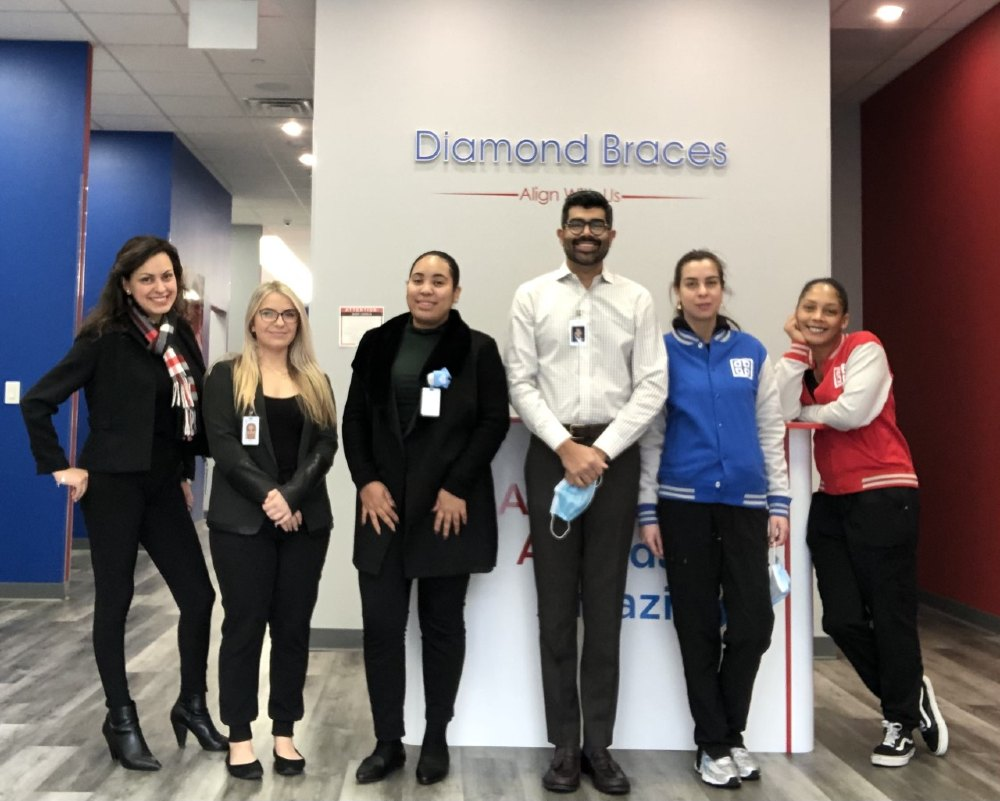 Stamford Orthodontist and Staff in the Diamond Braces Office in Connecticut