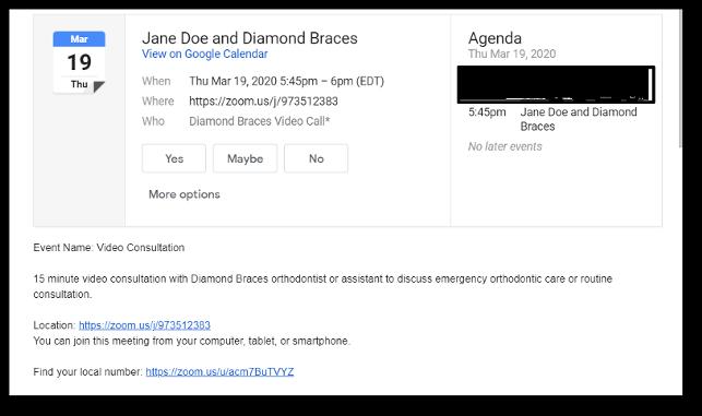 Diamond Braces Remote Video Conferencing