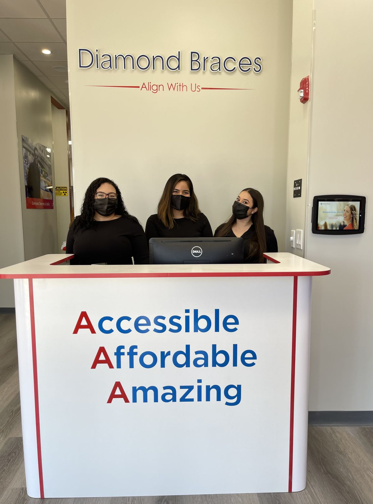 Diamond Braces team greets patients at Denville NJ office