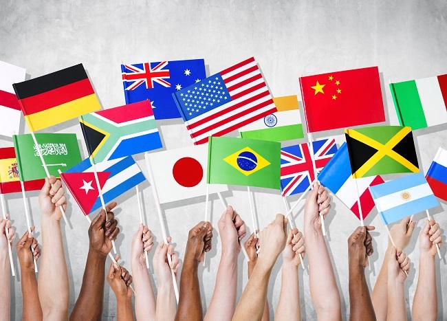 いろいろな国の旗