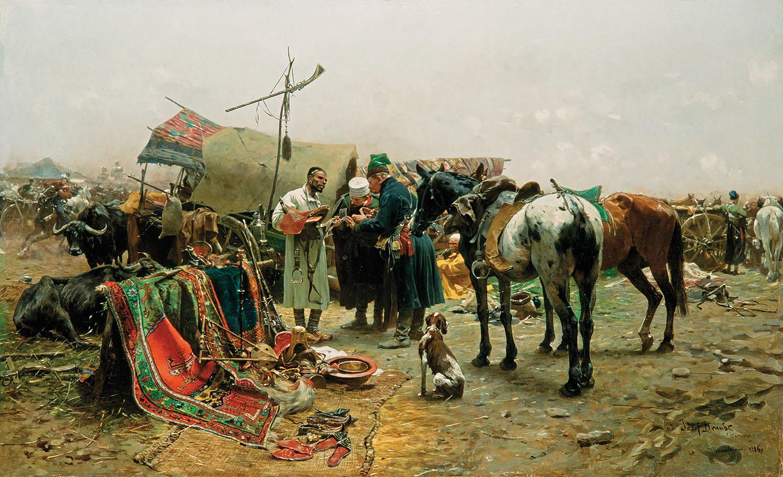 Józef Brandt, Jarmark w Bałcie na Podolu, 1886 r.