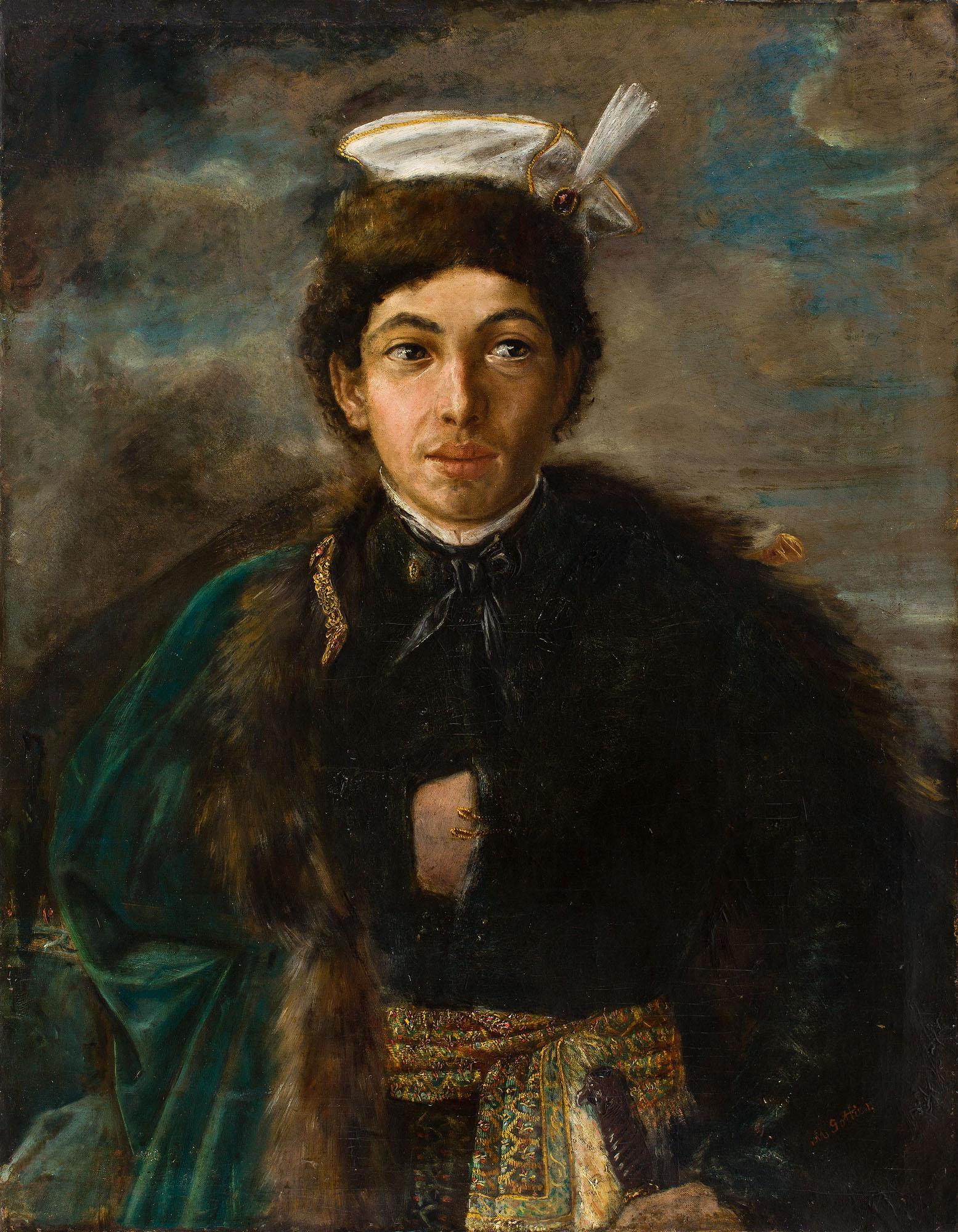 Maurycy Gottlieb, Autoportret w stroju polskiego szlachcica, 1874. Depozyt w POLIN Muzeum Historii Żydów Polskich