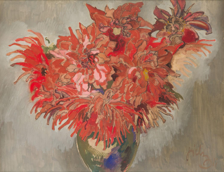 Kazimierz Sichulski,  Kwiaty w wazonie, 1911 r.