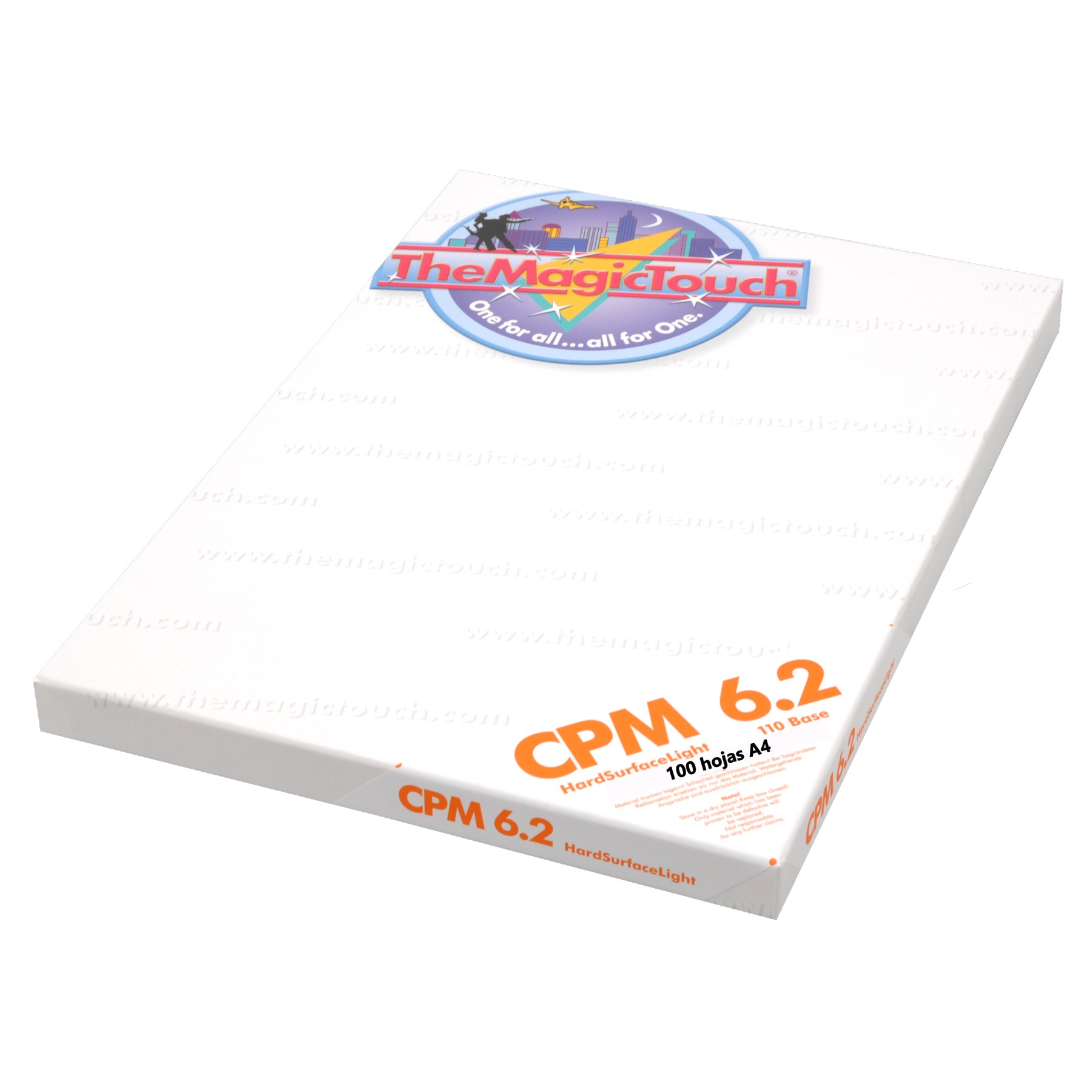 CPM 6.2 Transfer superficies rígidas no textiles, 100 hojas A4