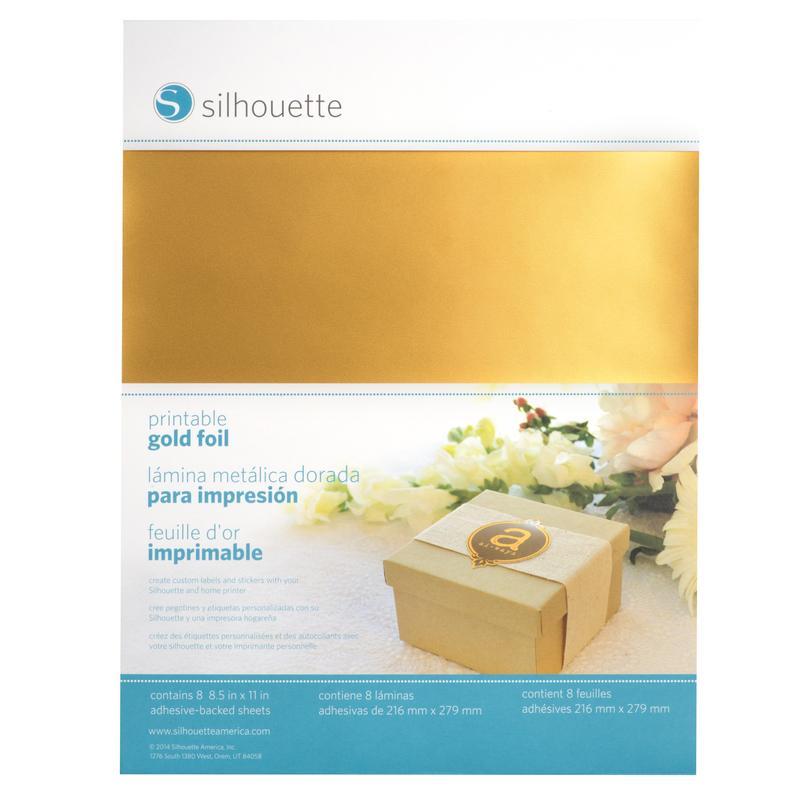 Hojas doradas imprimibles adhesivas