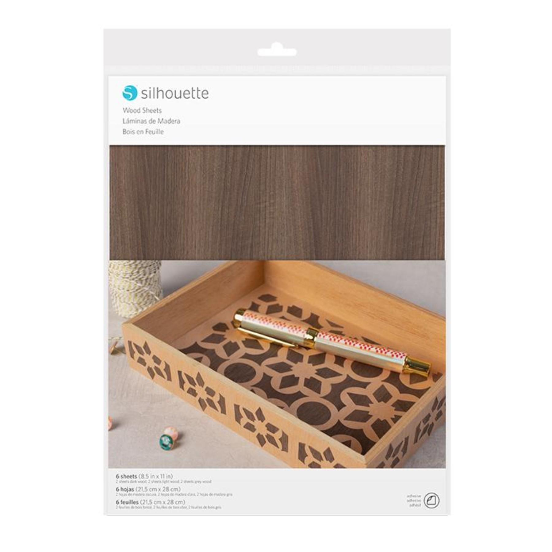 Hojas madera adhesivas
