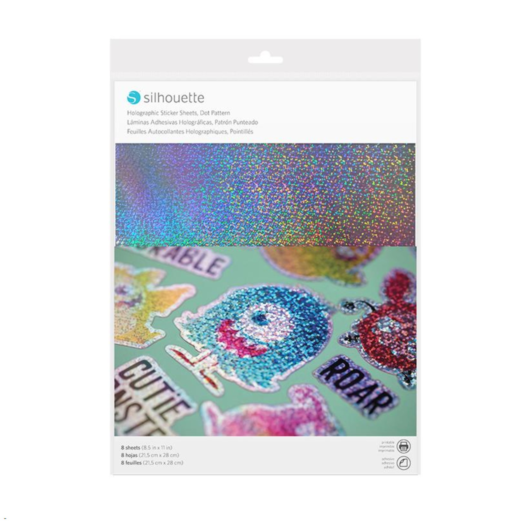 Láminas holográficas adhesivas patrón de puntos