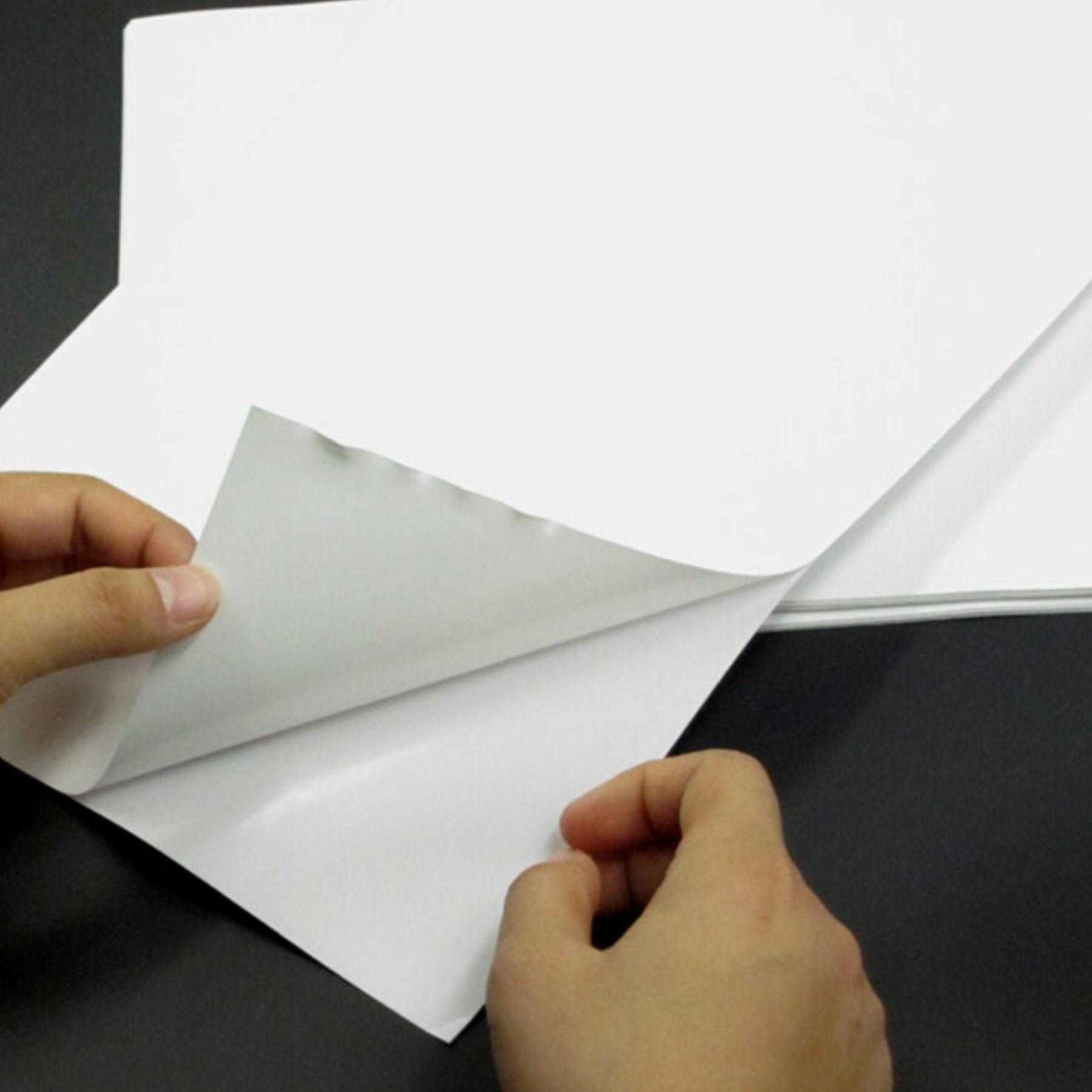 Papel fotográfico adhesivo brillante 50 hojas A4