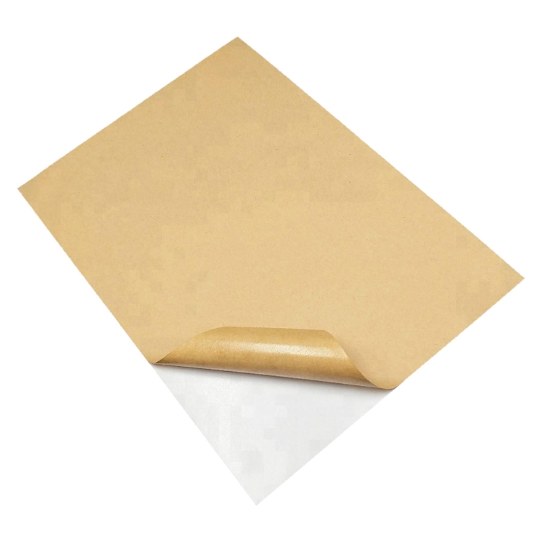 Papel kraft adhesivo 50 hojas A4